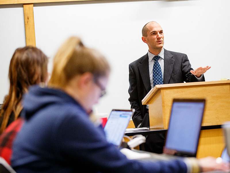 Law + Business Initiative classroom photo