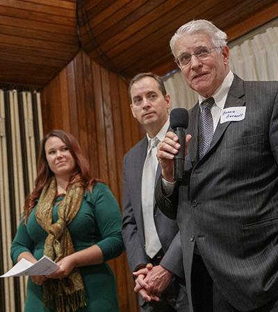 Magilton, Schaefer and Burnett at Conference