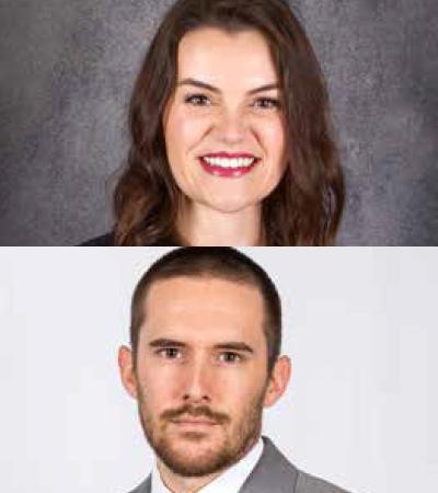Carly Burkhardt and Nick Grandgenett
