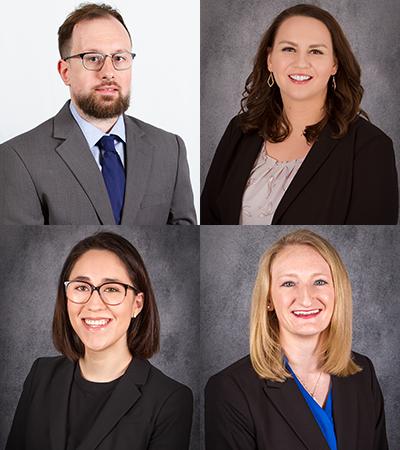 Headshots of students: Alan Dugger, Tessa Lengeling, Sarah O'Neill and Amy Sonnenfeld
