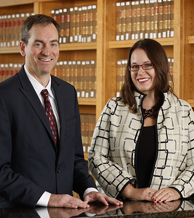 Professor Matt Schaefer and Executive Director Elsbeth Magilton