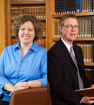 Professors Pearlman and Ruser headshots