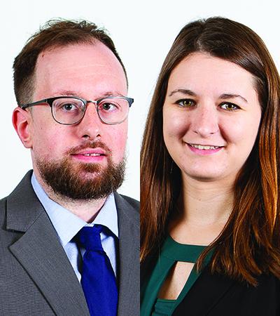 Alan Dugger and Haley Huson headshots