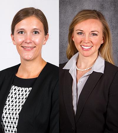 Alyssa Foust and Sarah Meier headshots