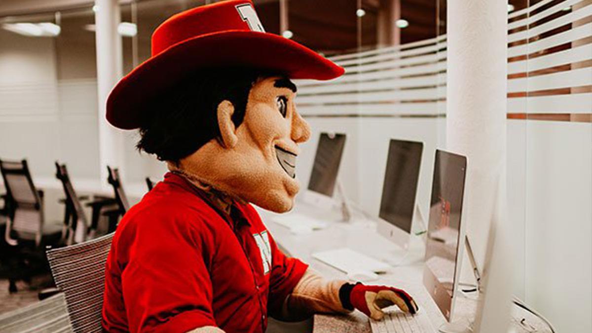 Herbie Husker at computerl