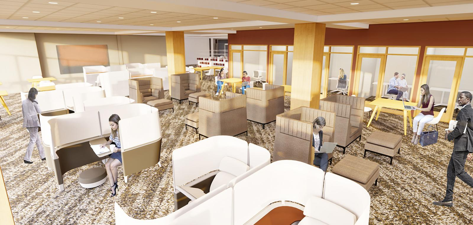 library construction rendering.
