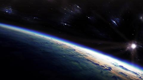 Space photo of earth