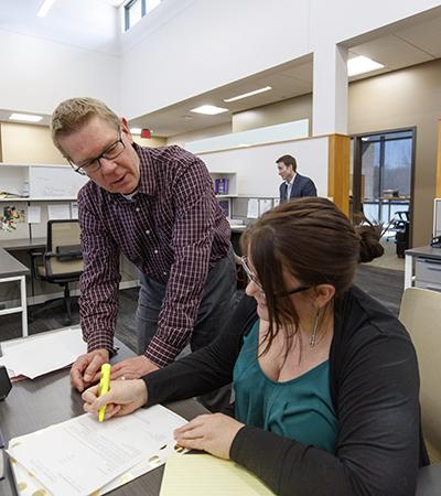 Professor Kevin Ruser with Kelsey Heino