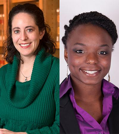 Professor Kristen Blankley and Alisha Caldwell Jimenez