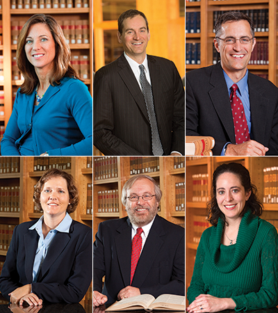 Professors Zellmer, Schaefer, Moberly, Medill, Duncan and Blankley