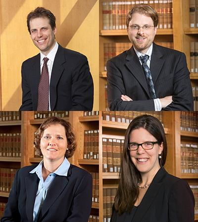 Professors Berger, Hurwitz, Medill and Shoemaker